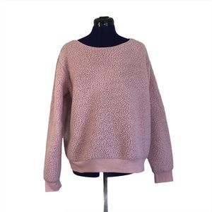 Mentally Exhausted Pink Fuzzy Sweater
